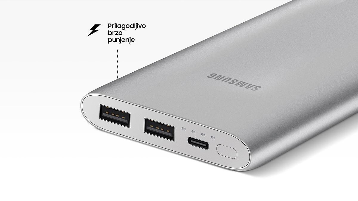 Power bank Samsung 10000mAh brzi (FAST) Type C srebrni 6 Abc Servis Prodavnica